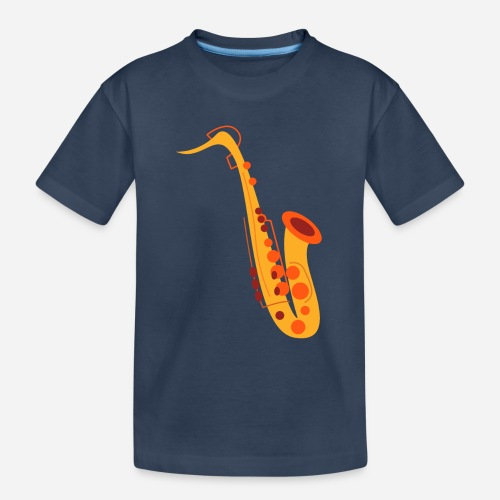 Goldenes Saxophon - Teenager Premium Bio T-Shirt