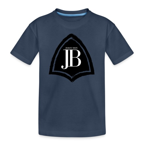 Original Jimmy BriX Logo - NEW LINE BLACK EDITION! - Teenager Premium Bio T-Shirt
