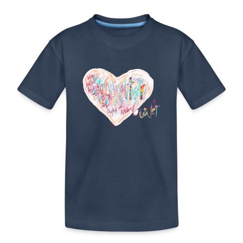 Lebe fröhlich frisch und munter täglich ein b.... - Teenager Premium Bio T-Shirt