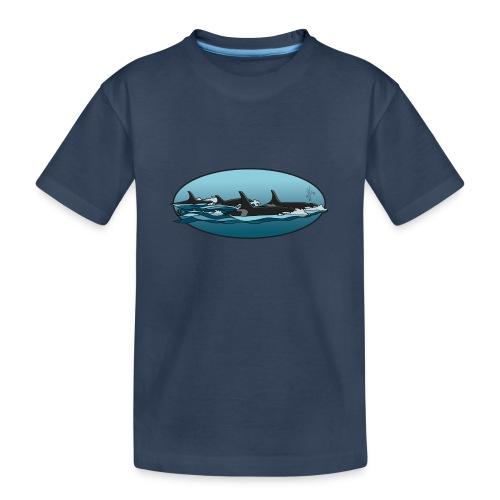Orca - Teenager premium biologisch T-shirt