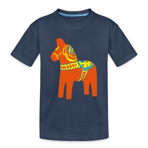 Dalahäst Dalecarlian Horse Dala-Pferd. Schweden - Teenager Premium Bio T-Shirt