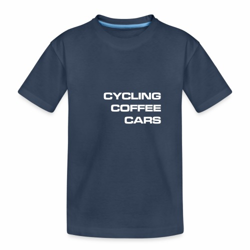 Cycling Cars & Coffee - Teenager Premium Organic T-Shirt