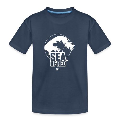 Sea of red logo - white - Teenager Premium Organic T-Shirt