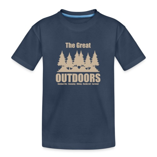 The great outdoors - Clothes for outdoor life - Teenager Premium Organic T-Shirt