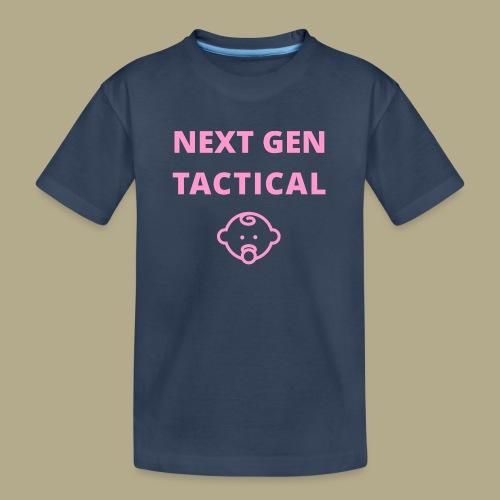 Tactical Baby Girl - Teenager premium biologisch T-shirt