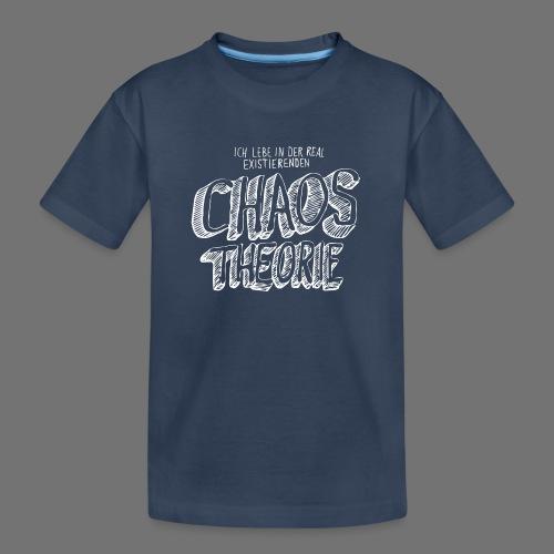 Chaos Theory (valkoinen) - Teinien premium luomu-t-paita