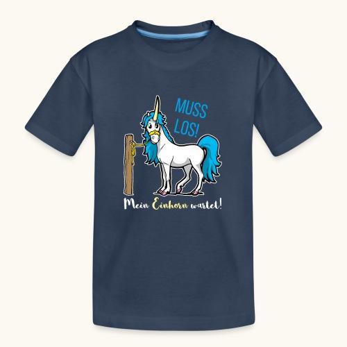 Dessin drôle de licorne disant bande dessinée cadeau - T-shirt bio Premium Ado