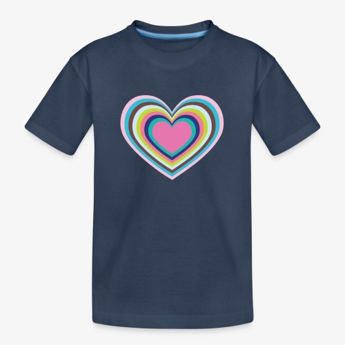 Psychedelic Heart - Teenager Premium Organic T-Shirt