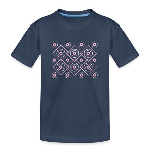 pink geometric print - Ekologiczna koszulka młodzieżowa Premium