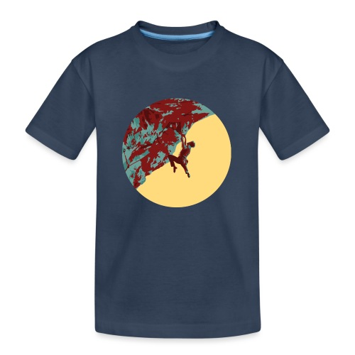 Stark am Fels - Felsklettern am Falkenstein - Teenager Premium Bio T-Shirt