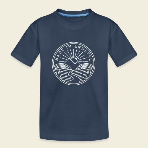 Made im Ennstal, weiß - Teenager Premium Bio T-Shirt