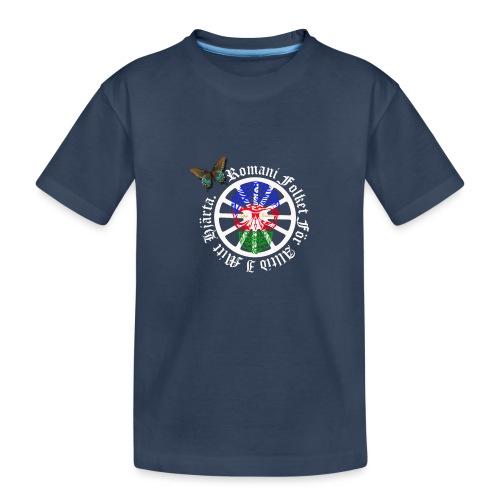 LennyhjulRomaniFolketivitfjerliskulle - Ekologisk premium-T-shirt tonåring