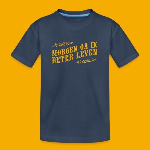 tshirt yllw 01 - Teenager premium biologisch T-shirt