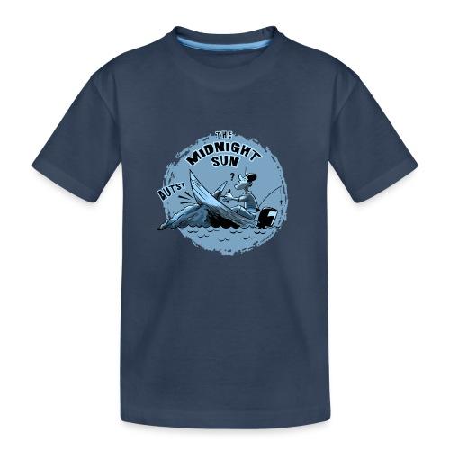 MIDNIGHT SUN, FUNNY FISHING TEXTILES, GIFTS - Teinien premium luomu-t-paita