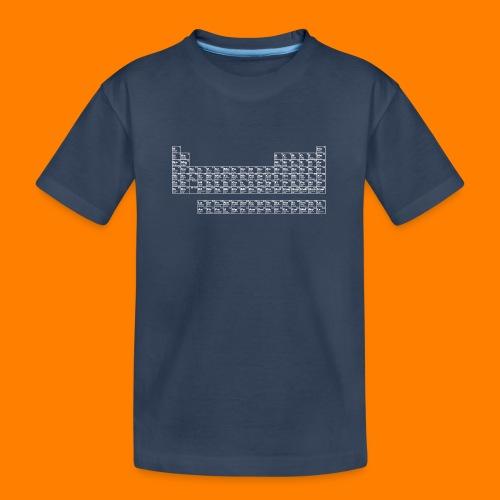periodic white - Teenager Premium Organic T-Shirt