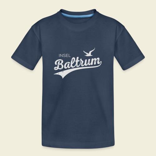 Baltrum-Logo Möwe - Teenager Premium Bio T-Shirt