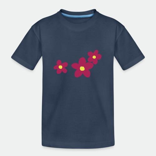 Three Flowers - Teenager Premium Organic T-Shirt