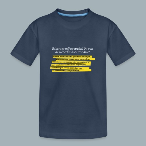 Nederlandse Grondwet T-Shirt - Artikel 94 - Teenager premium biologisch T-shirt