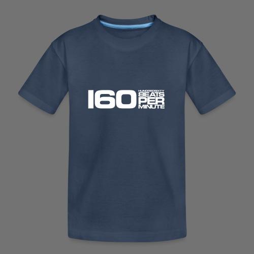 160 BPM (hvid lang) - Teenager premium T-shirt økologisk