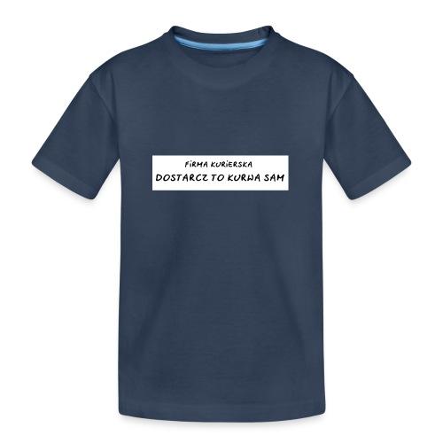 firma kurierska tyl - Ekologiczna koszulka młodzieżowa Premium