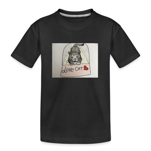 Love cat - Maglietta ecologica premium per ragazzi