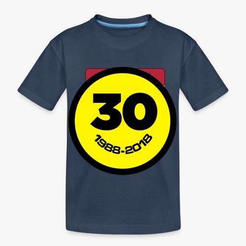 30 Jaar Belgian New Beat Smiley - Teenager premium biologisch T-shirt