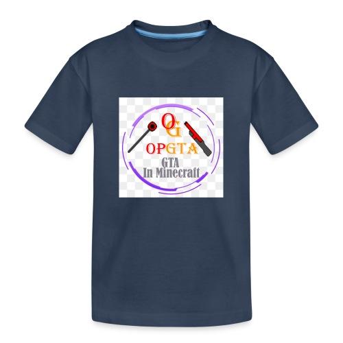 opgta logo - Teinien premium luomu-t-paita