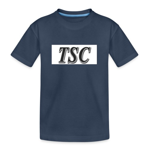 TSC Black Text - Teenager Premium Organic T-Shirt