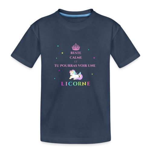 Reste calme licorne rose - T-shirt bio Premium Ado