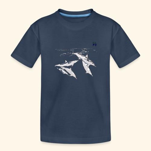 5 Gray dolphins - Teenager Premium Organic T-Shirt
