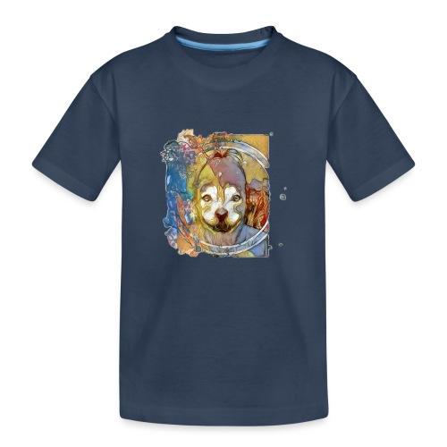 Dog Face - Teenager premium biologisch T-shirt