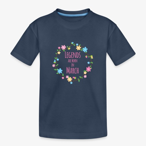 Legends are born in March - Teenager Premium Organic T-Shirt