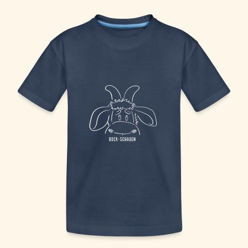 Bock schauen - weiß - Teenager Premium Bio T-Shirt