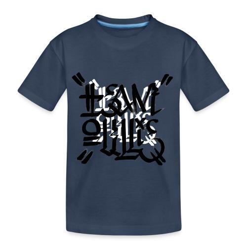 teamoullie logo white - Teenager premium biologisch T-shirt