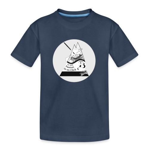 Logo BN - Maglietta ecologica premium per ragazzi