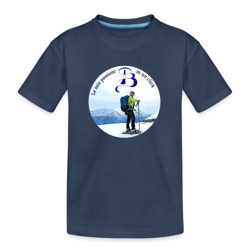 Logo cartone ciaspole - Maglietta ecologica premium per ragazzi
