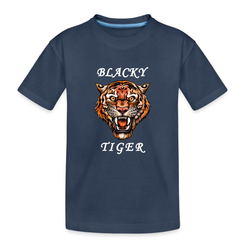 Blacky Tiger Design in Tattoo-Optik - Teenager Premium Bio T-Shirt
