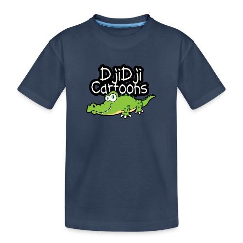 Djidji cartoon design Krokodil - Teenager Premium Bio T-Shirt