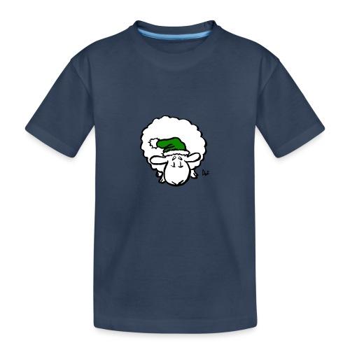 Weihnachtsschaf (grün) - Teenager Premium Bio T-Shirt