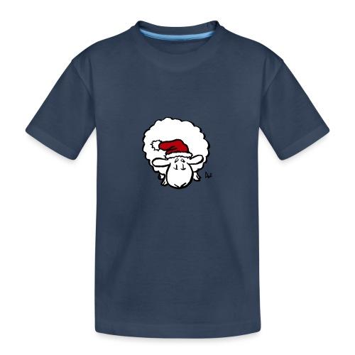 Weihnachtsschaf (rot) - Teenager Premium Bio T-Shirt