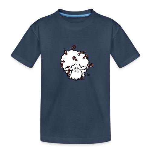 Candy Cane Sheep - Teenager Premium Bio T-Shirt
