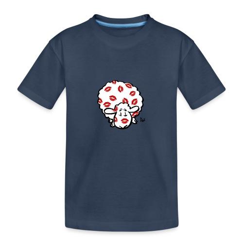 Kuss Mutterschaf - Teenager Premium Bio T-Shirt