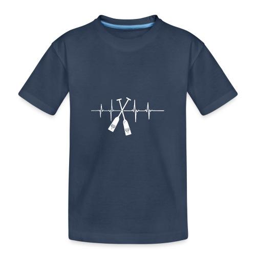 Drachenboot Paddel EKG Herzschlag - Teenager Premium Bio T-Shirt