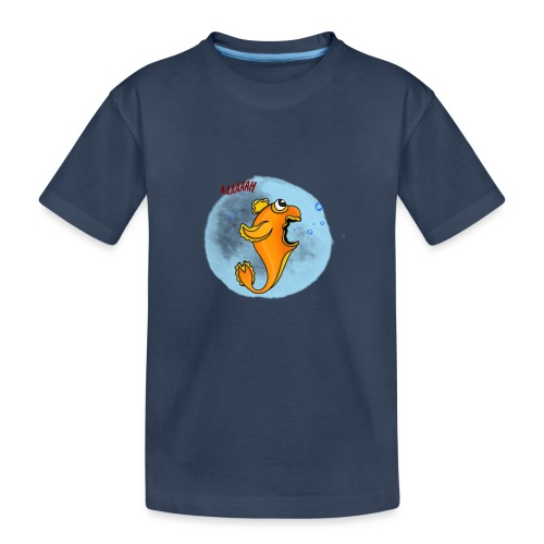 Poisson effrayé - T-shirt bio Premium Ado