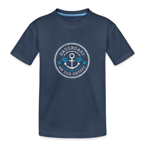 Ich bin Dauergast an der Ostsee - Teenager Premium Bio T-Shirt