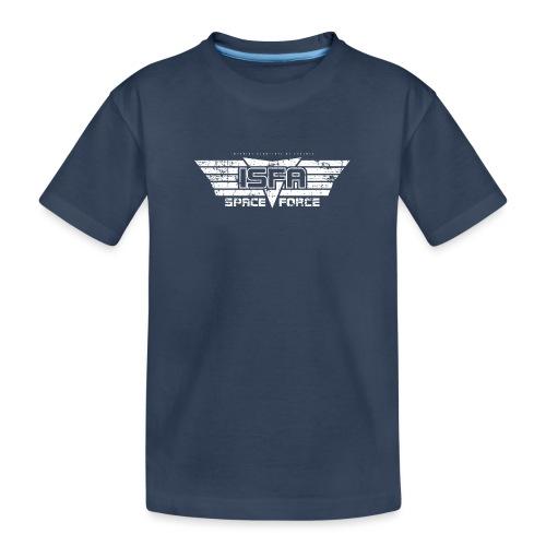 ISFA Spaceforce White grunge - Teenager Premium Bio T-Shirt