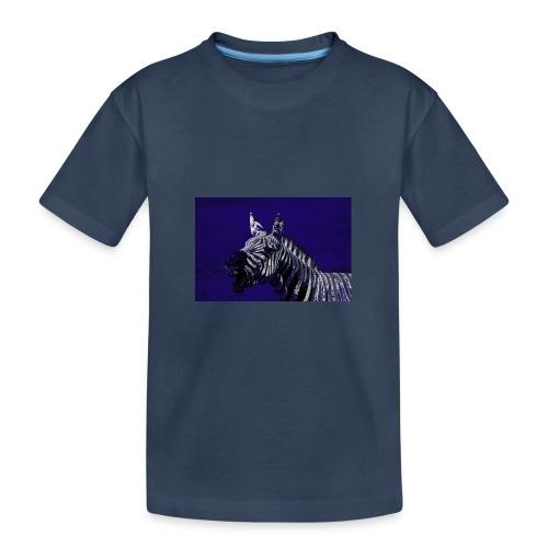 blue zebra - Teenager Premium Organic T-Shirt