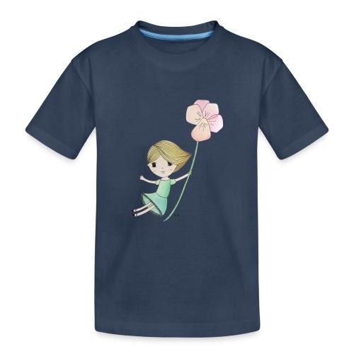 meisje met viool - Teenager premium biologisch T-shirt