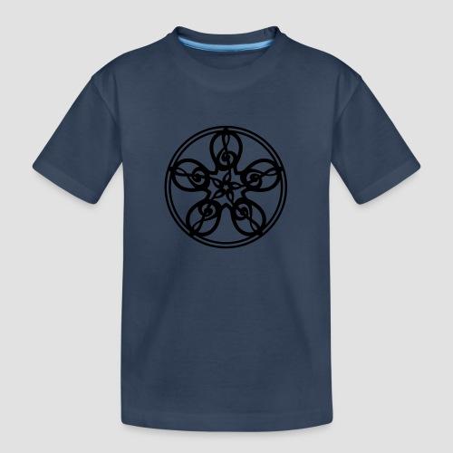 Treble Clef Mandala (black) - Teenager Premium Organic T-Shirt