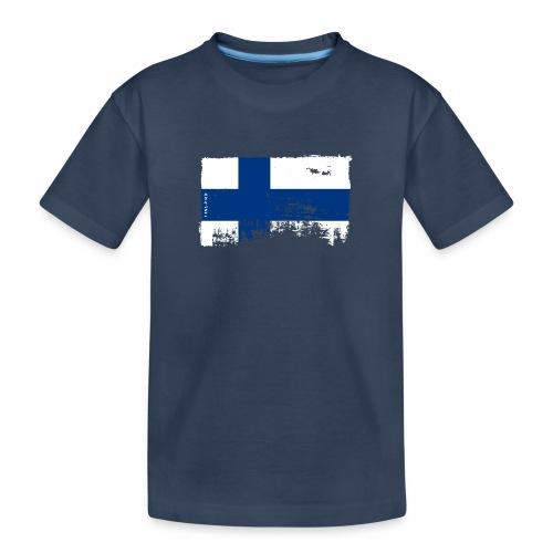 Suomen lippu, Finnish flag T-shirts 151 Products - Teinien premium luomu-t-paita